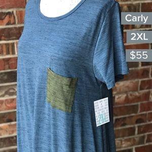 2xl blue and green dress